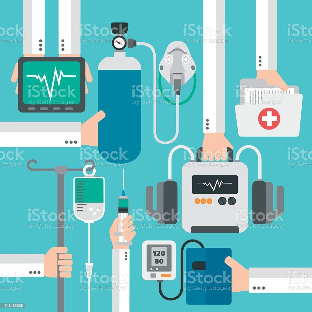 Modern medical therapy flat design vector art illustration