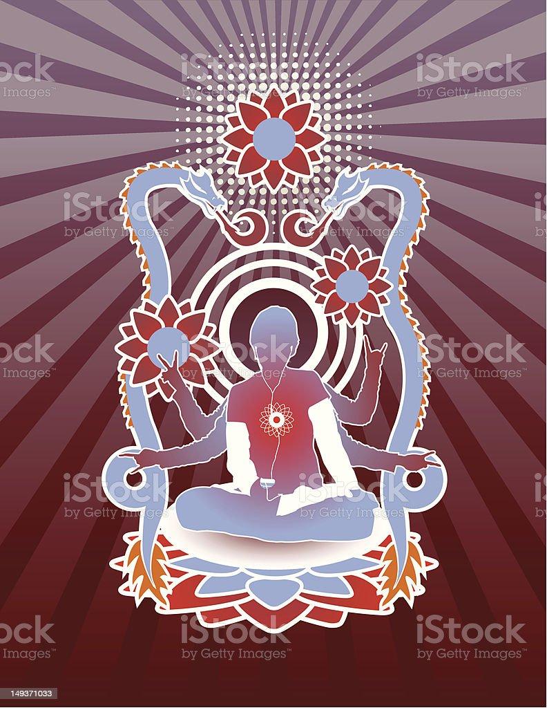 Modern Meditation royalty-free stock vector art