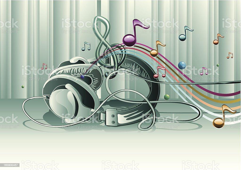 Modern melody vector art illustration
