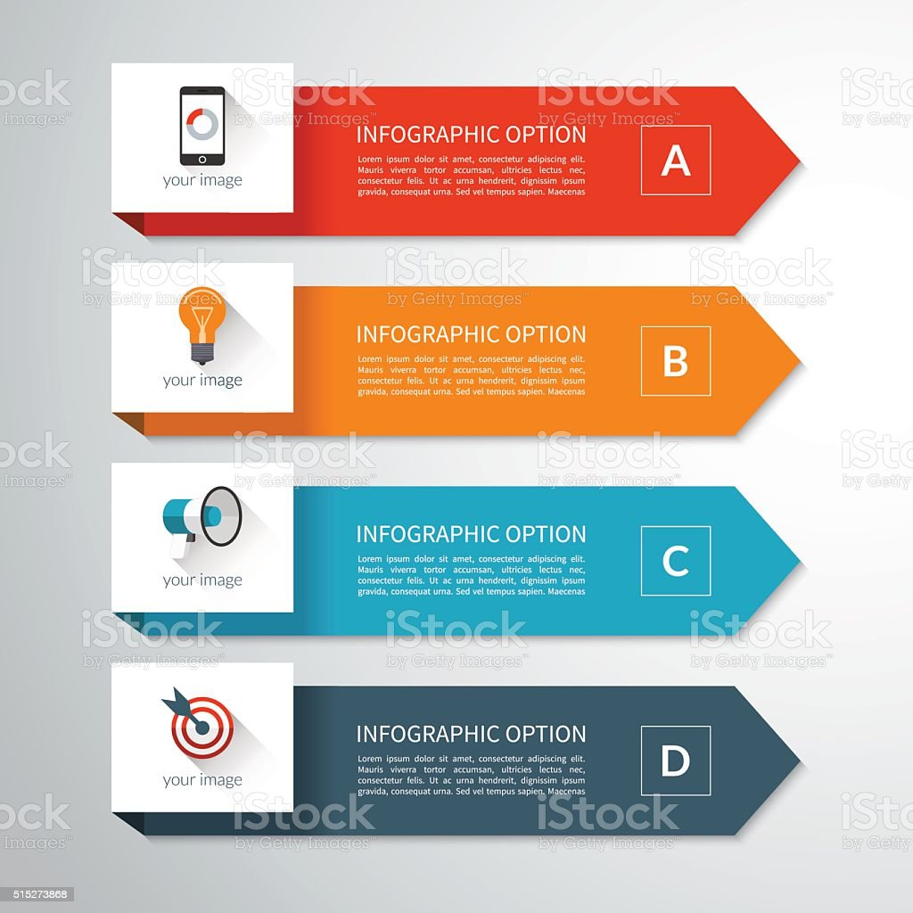 Modern minimal arrow elements for infographics vector art illustration