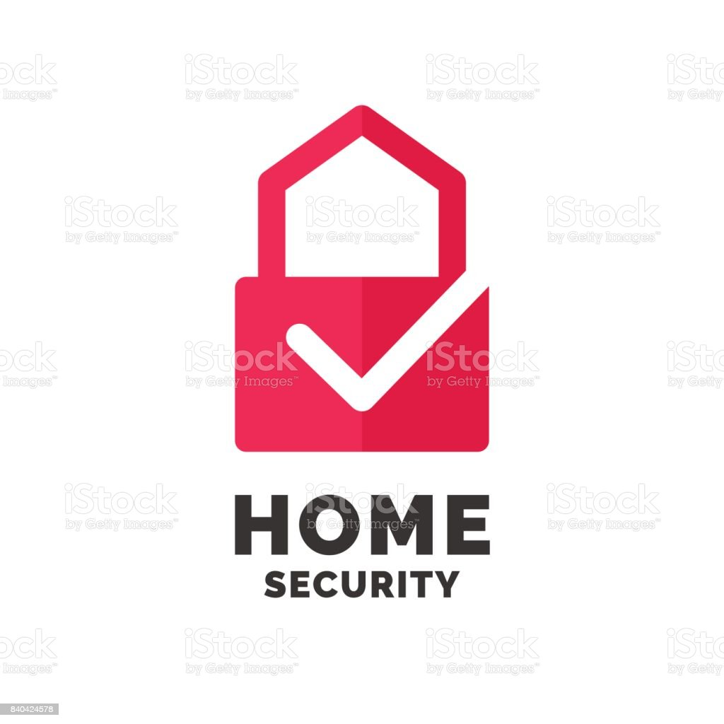Modern Minimalistic Vector Icon Design For Home Security stock ...