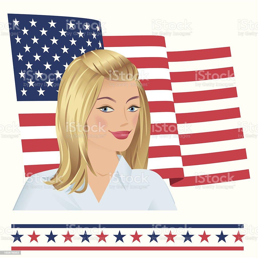 Modern Miss America royalty-free stock vector art
