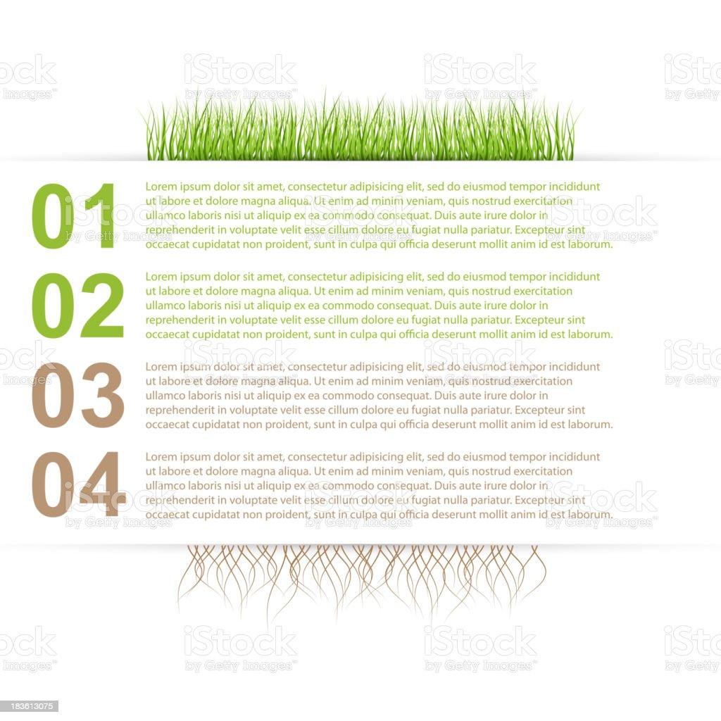 Modern nature design template infographics royalty-free stock vector art