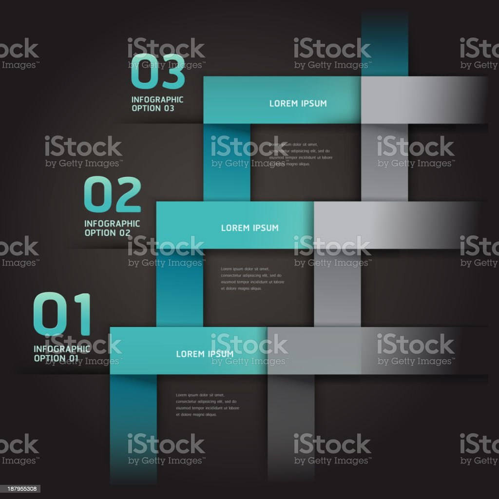 Modern paper Infographics origami banner template. royalty-free stock vector art