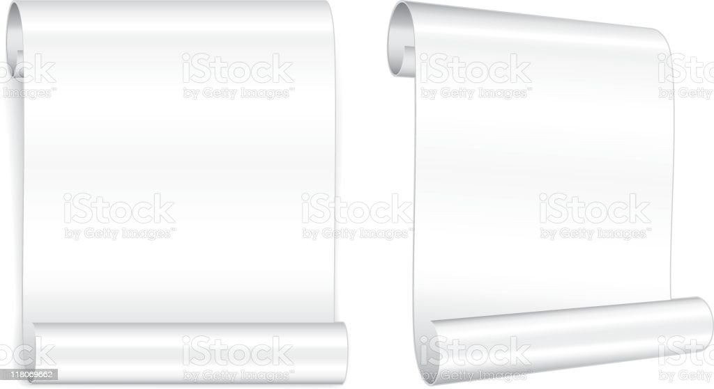 Modern paper scroll royalty-free stock vector art