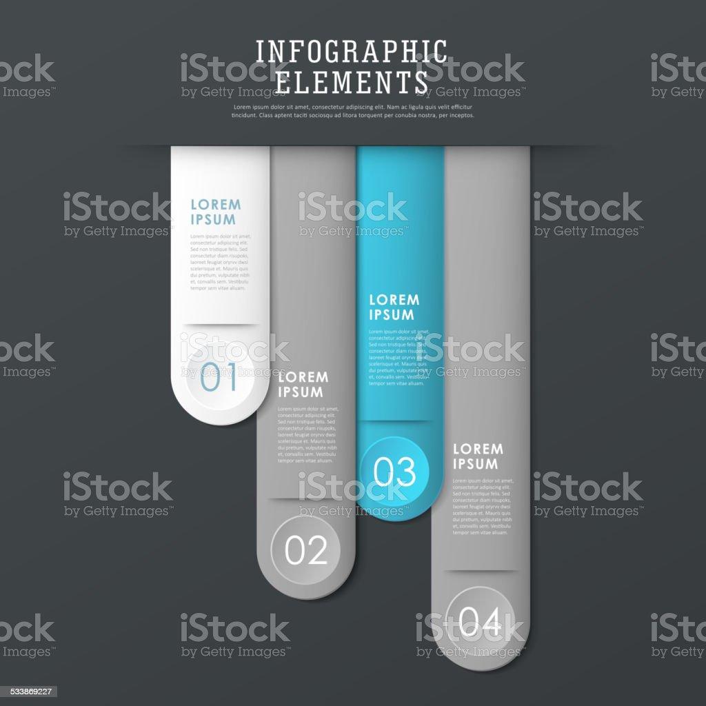 modern paper texture bookmark infographic elements vector art illustration