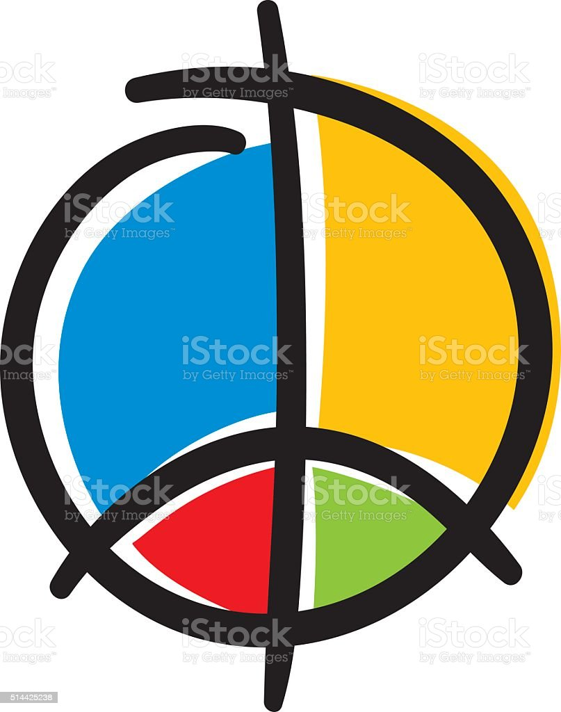 Modern Peace sign vector art illustration