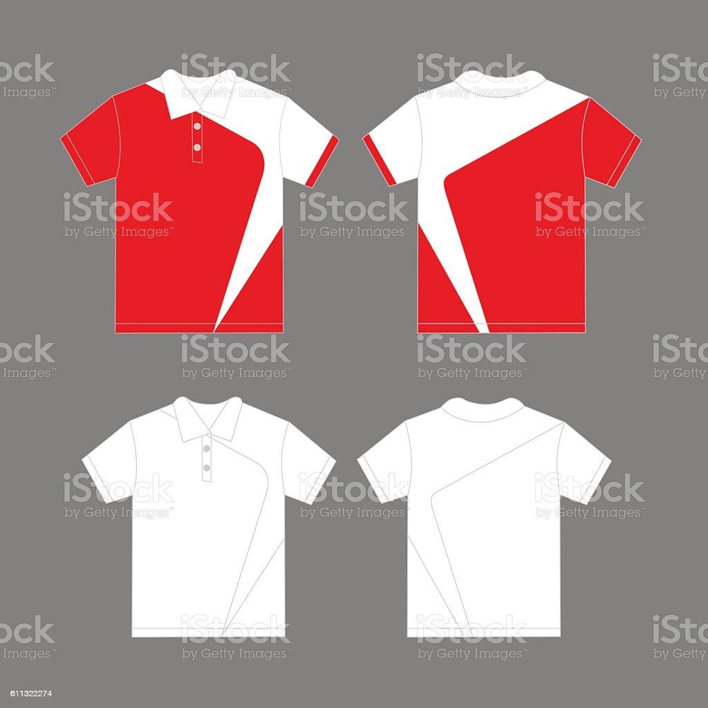 Polo shirt design vector - Modern Polo Shirt Design Royalty Free Stock Vector Art