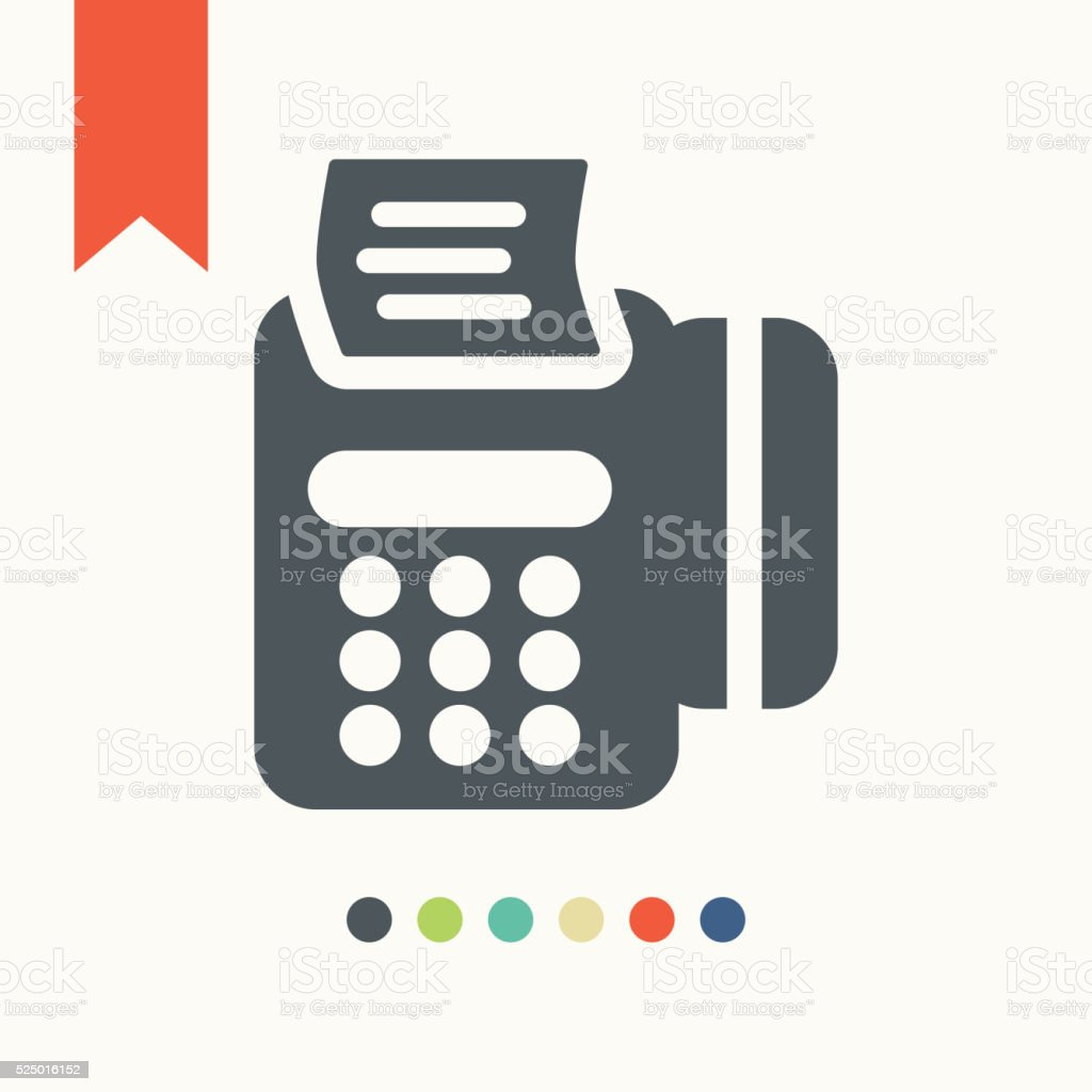 Modern POS payment terminal icon vector art illustration