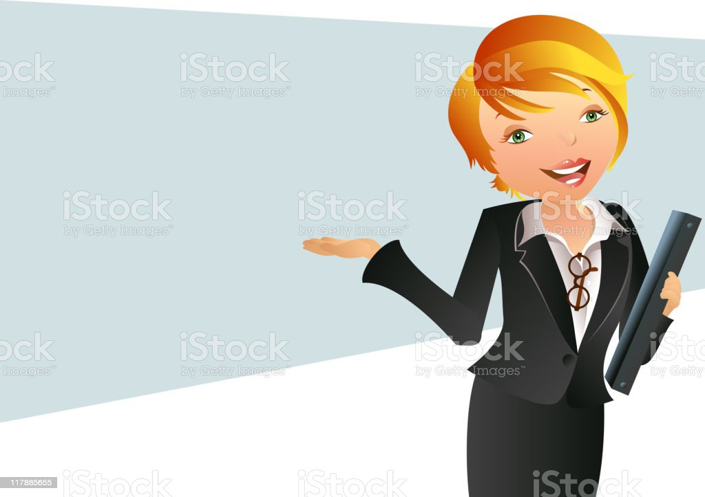 Modern Professional Business Woman royalty-free stock vector art