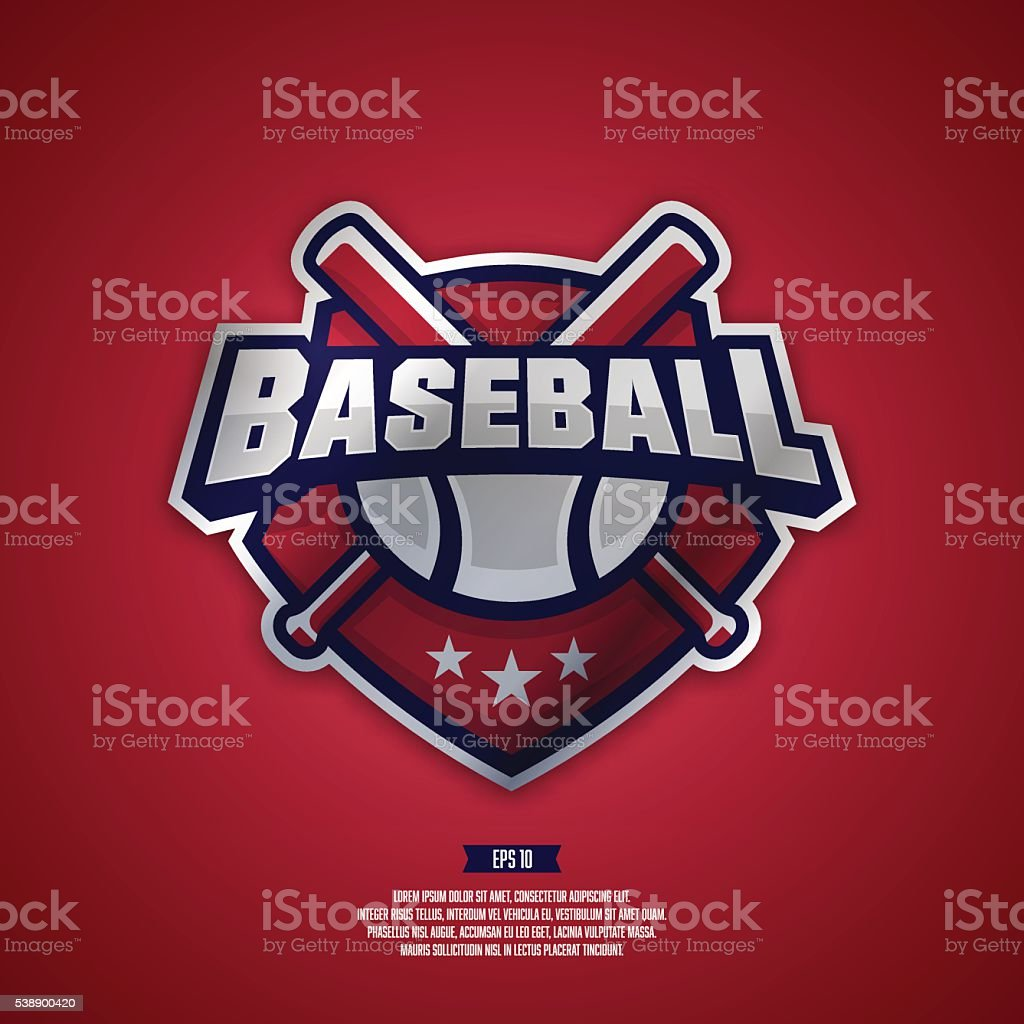 Modern professional logo for a baseball team. vector art illustration