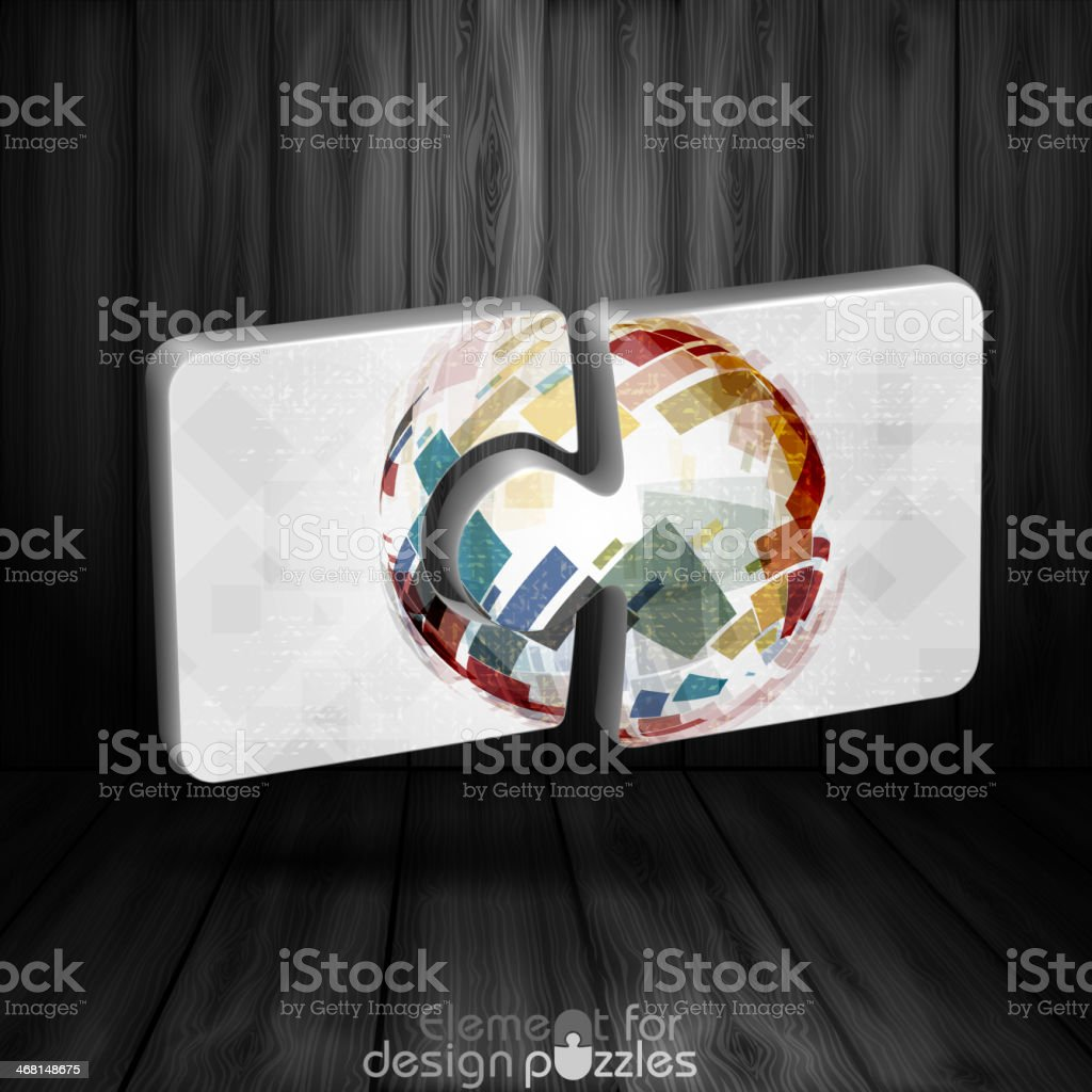 Modern Puzzle Template. royalty-free stock vector art