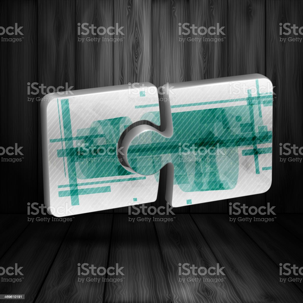Modern Puzzle Template royalty-free stock vector art