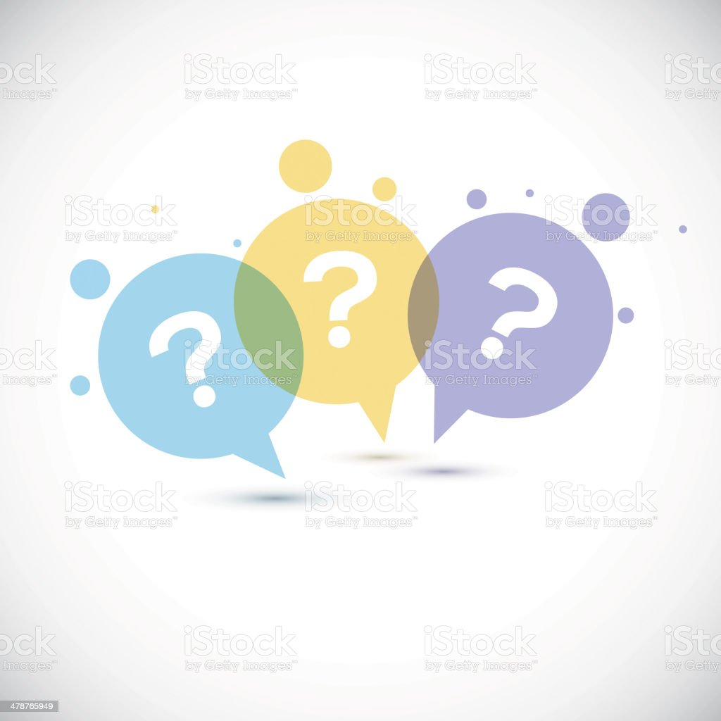 Modern Question mark icon vector art illustration