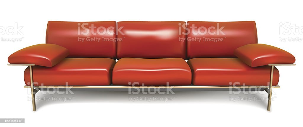 Modern Red Sofa royalty-free stock vector art