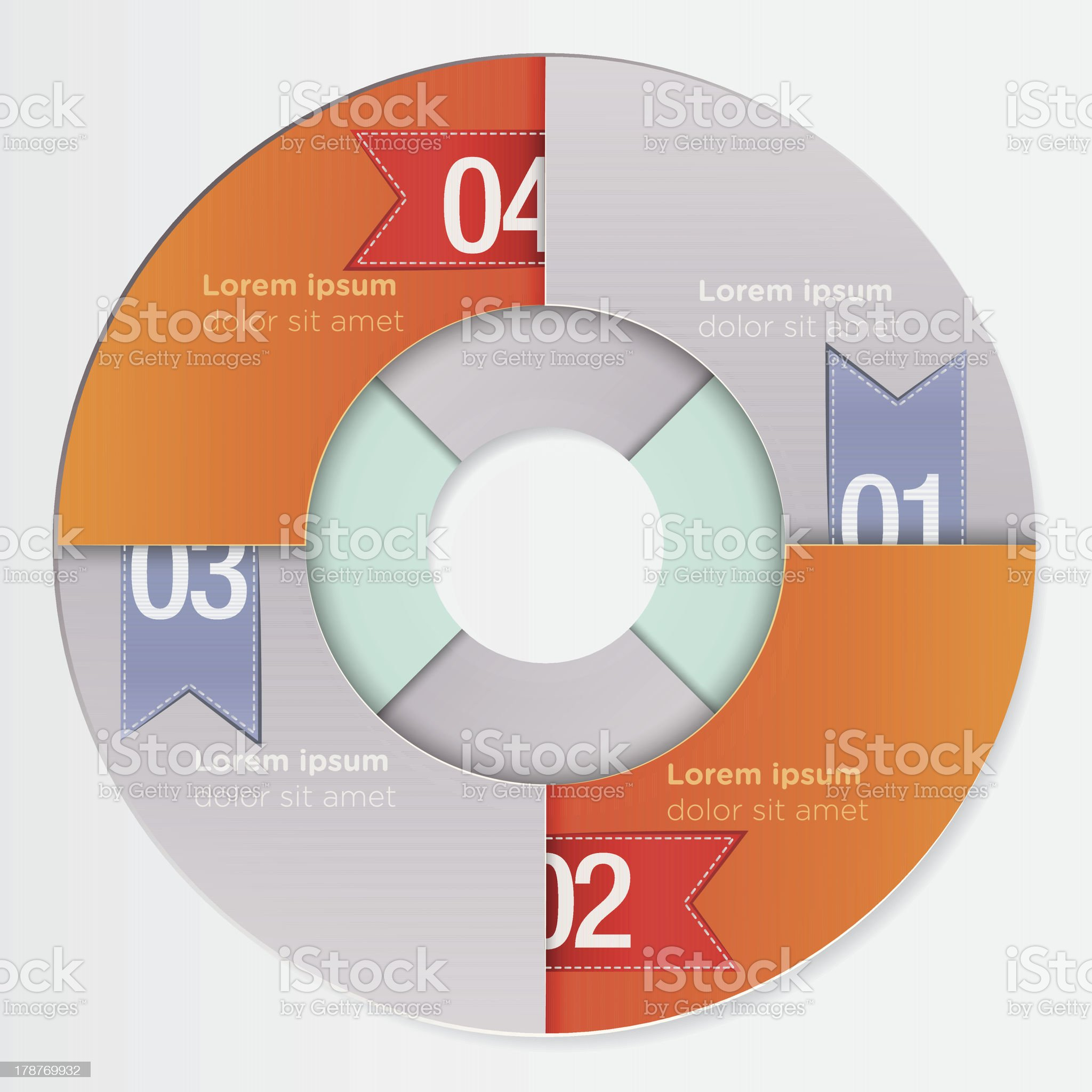 Modern round infographic template royalty-free stock vector art