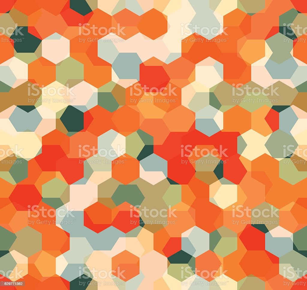 Modern Seamless pattern of polygons multicolor geometric background. vector art illustration