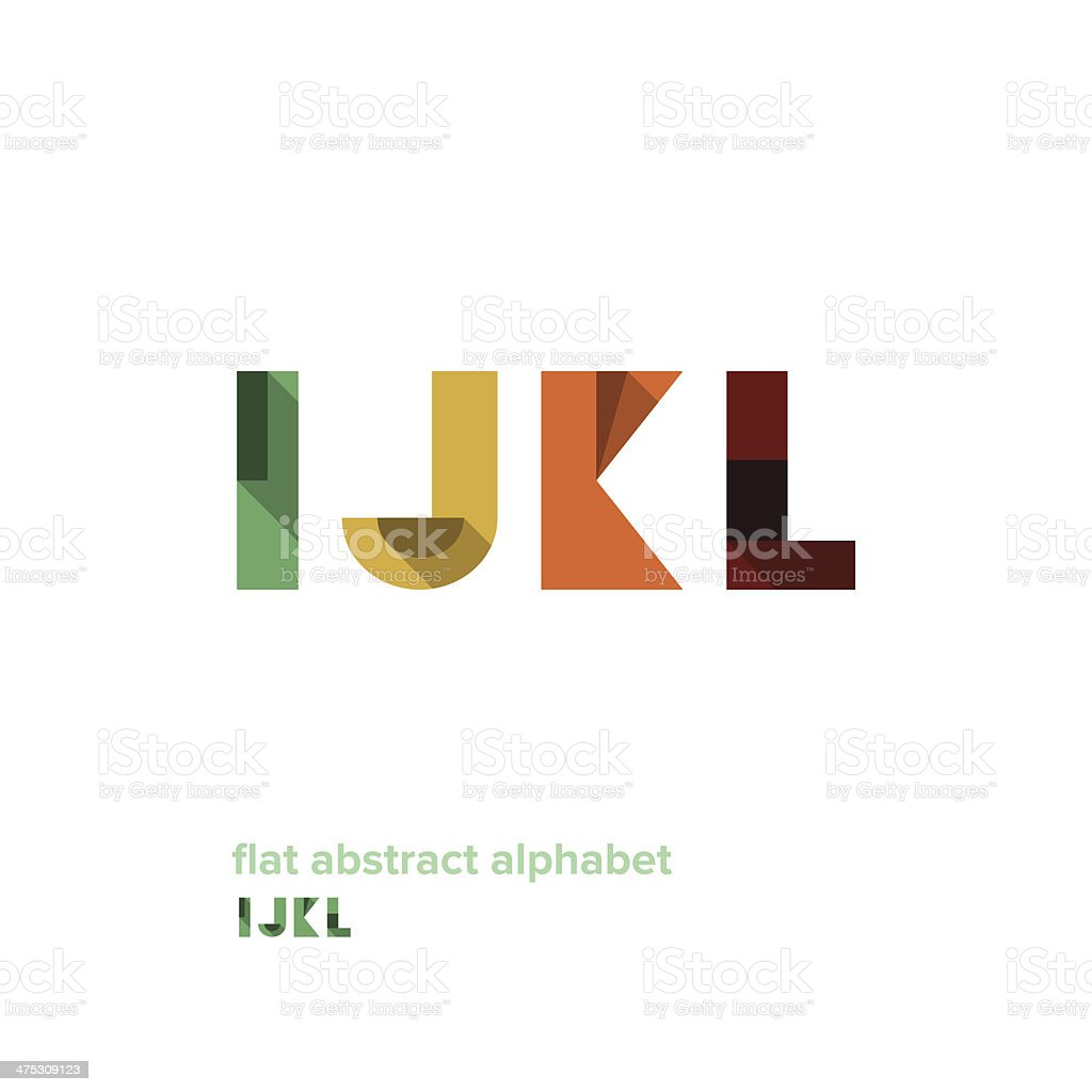 Modern Simple Abstract Colorful Alphabet vector art illustration