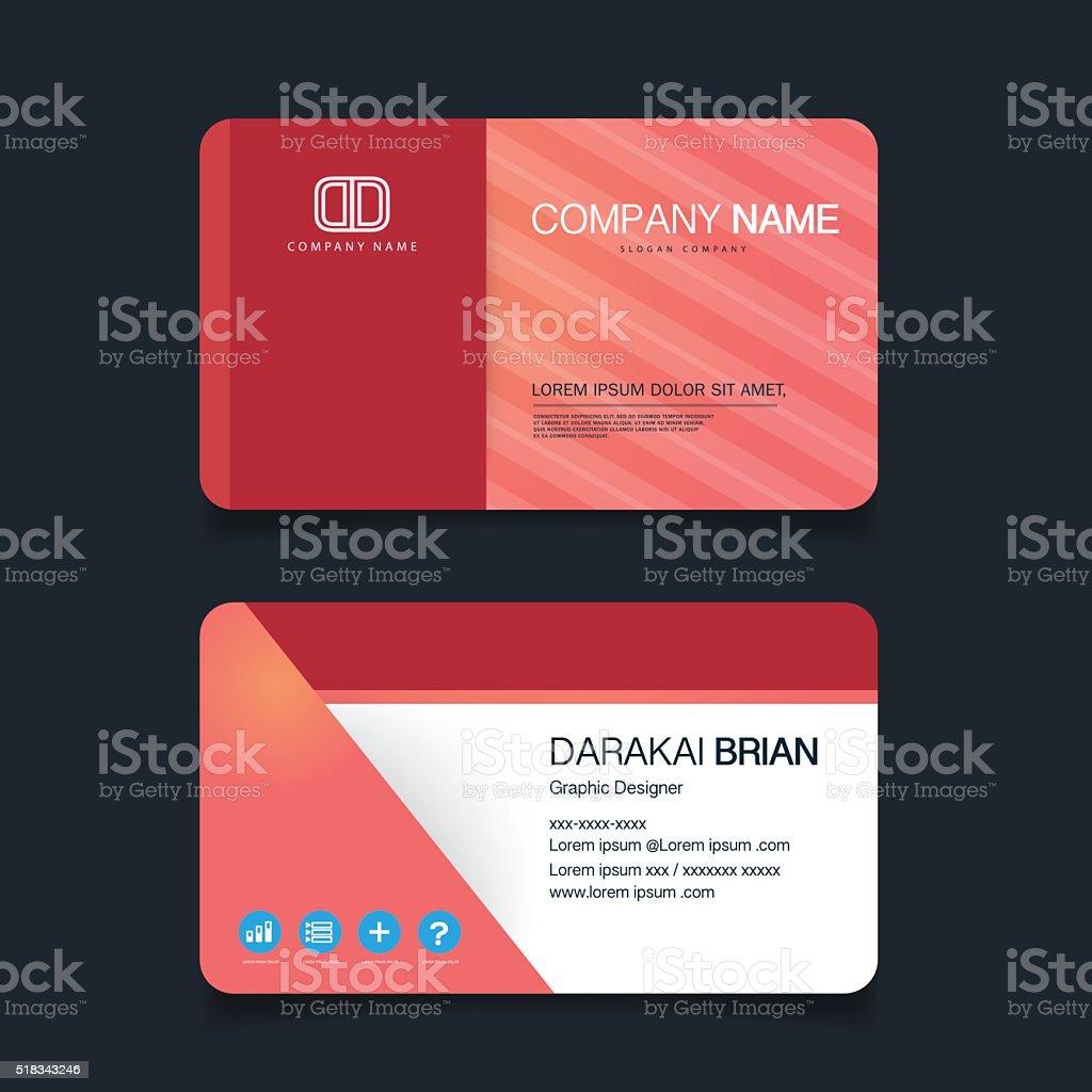 Modern simple business card template vector art illustration