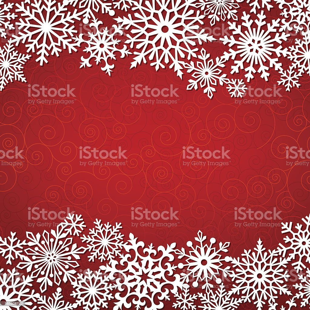 Modern Snowflakes Frame royalty-free stock vector art