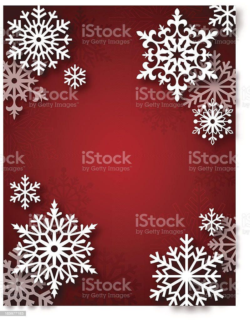 Modern Snowflakes Frame royalty-free stock vector art