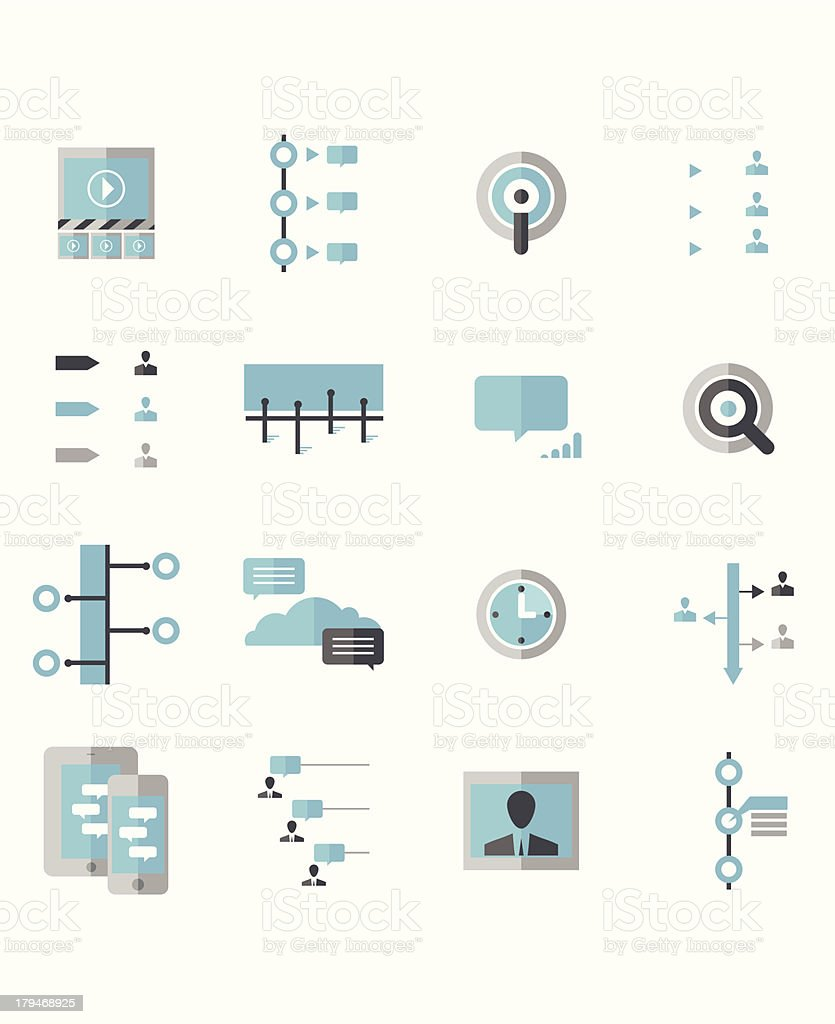 Modern Social Timeline Icons royalty-free stock vector art