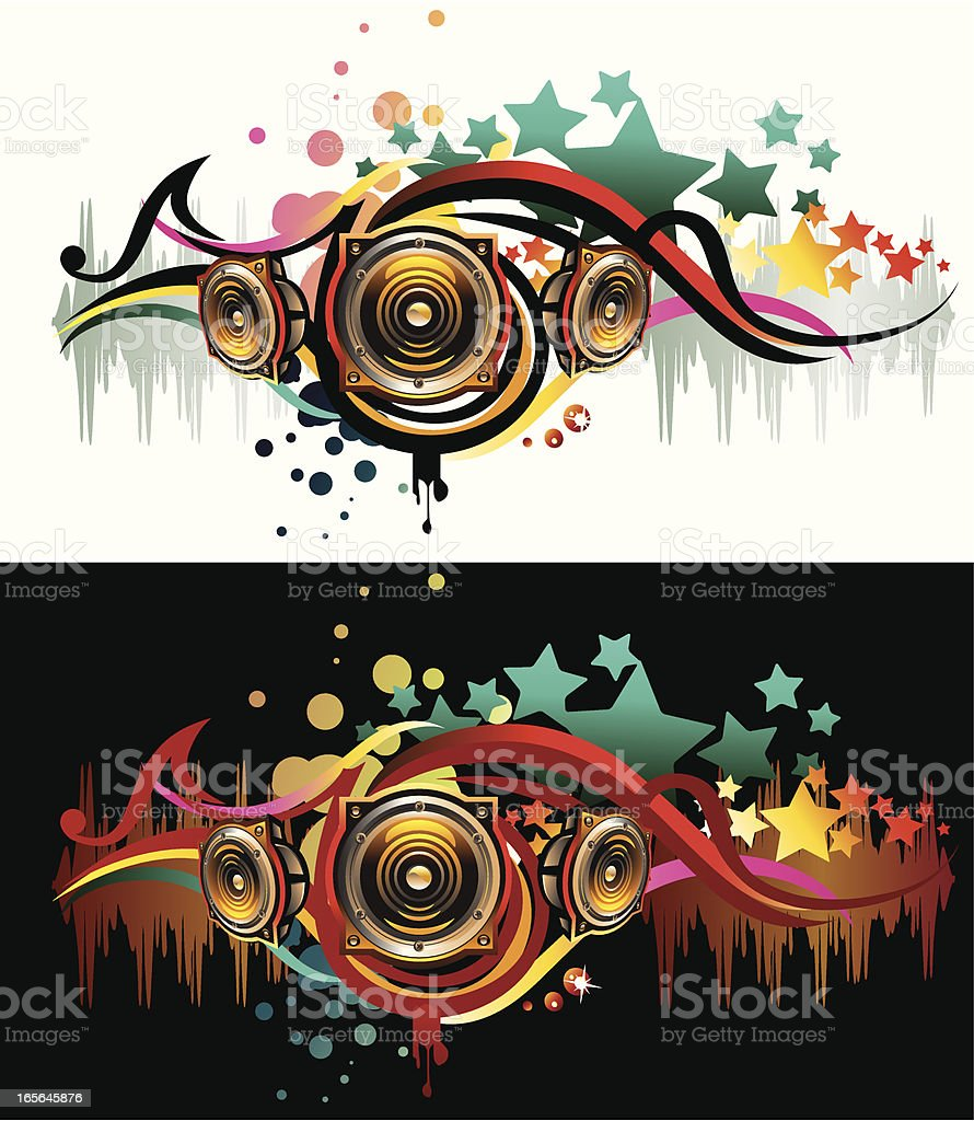 Modern Sound vector art illustration