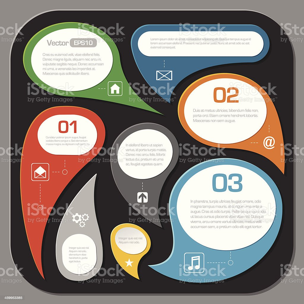 modern speech bubble layout design - infographics royalty-free stock vector art
