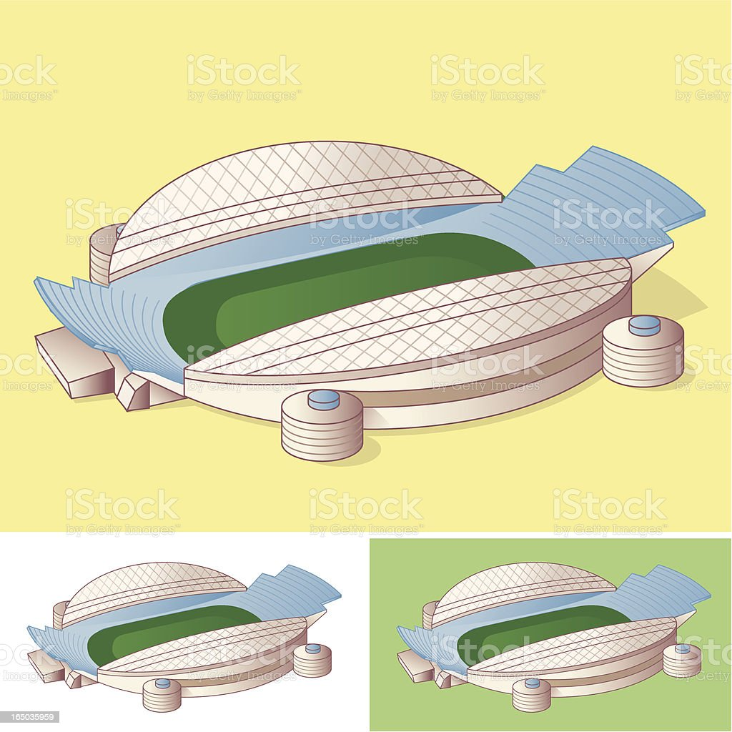 Modern Stadium royalty-free stock vector art