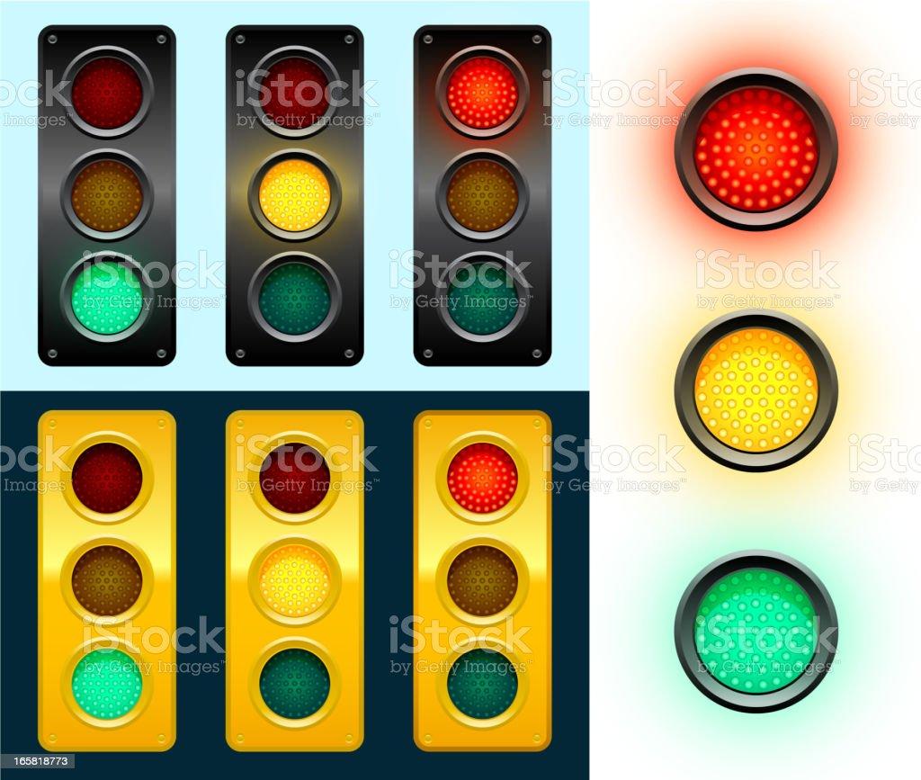 LED Modern Street Traffic Lights Background royalty-free stock vector art