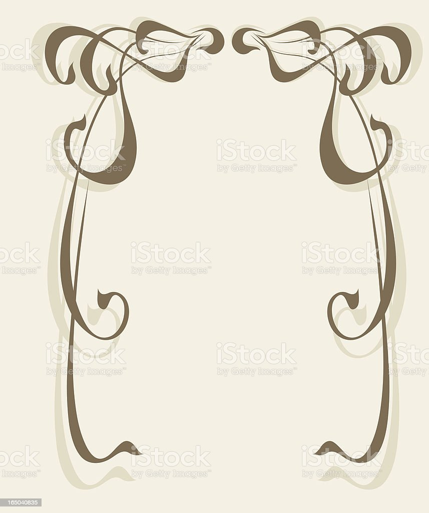 Modern style frame, vector royalty-free stock vector art