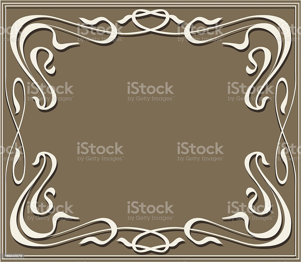 Modern style frame, vector royalty-free stock vector art