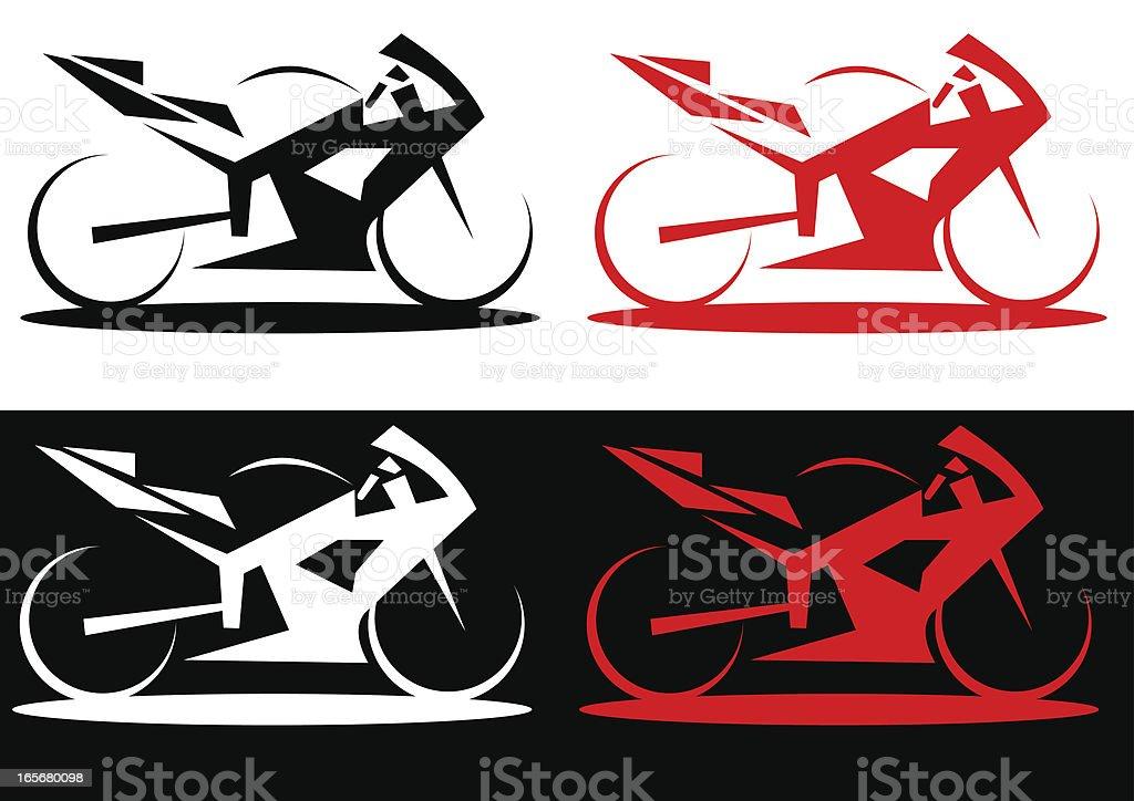 Modern superbike line art style illustration royalty-free stock vector art