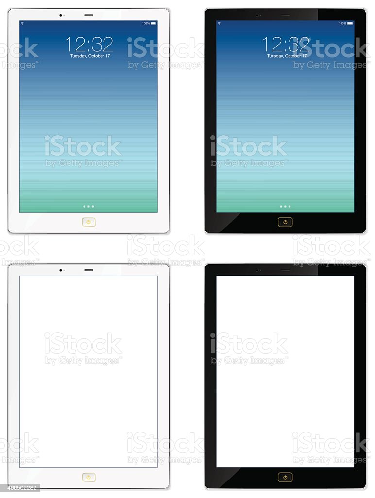 Modern Tablet - Illustration vector art illustration