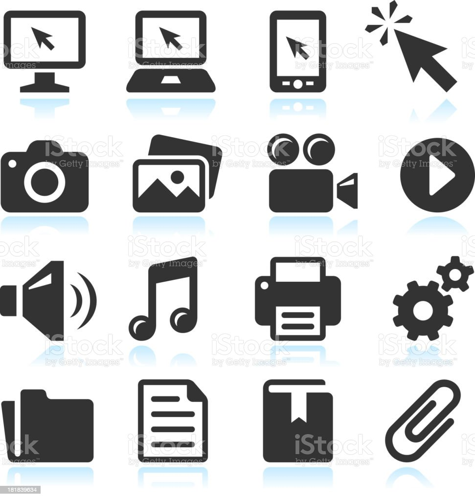 Modern Technology royalty-free vector arts black & white icon set royalty-free stock vector art