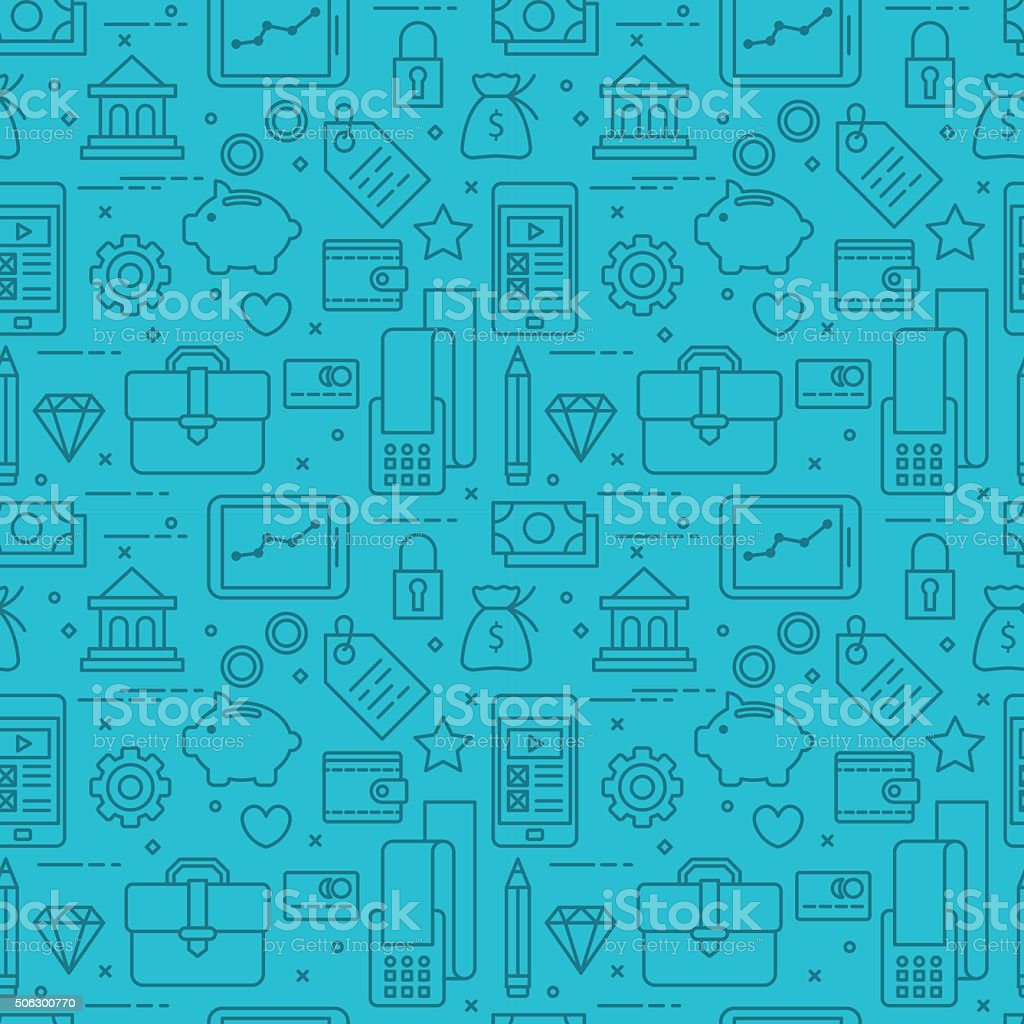 Modern thin line icons seamless pattern for web graphics vector art illustration