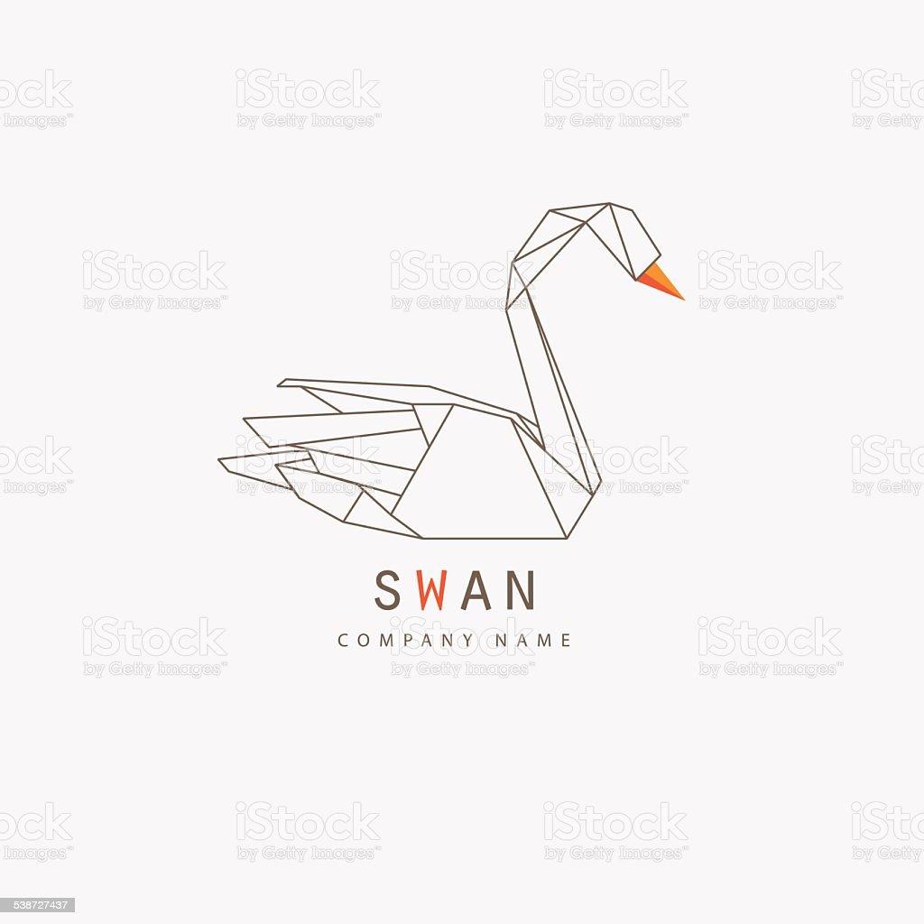 modern thin line swan icon element design for business vector art illustration