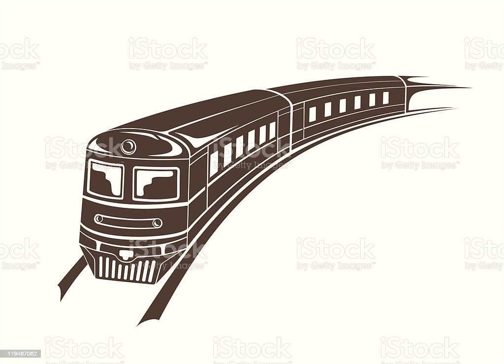modern train royalty-free stock vector art