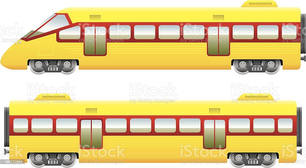 Modern train vector art illustration