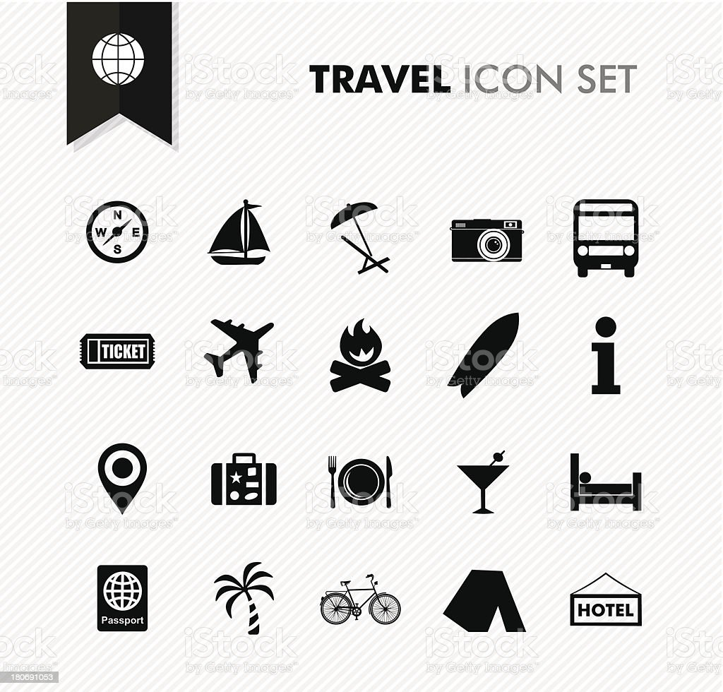 Modern travel vacations and holidays icon set. royalty-free stock vector art