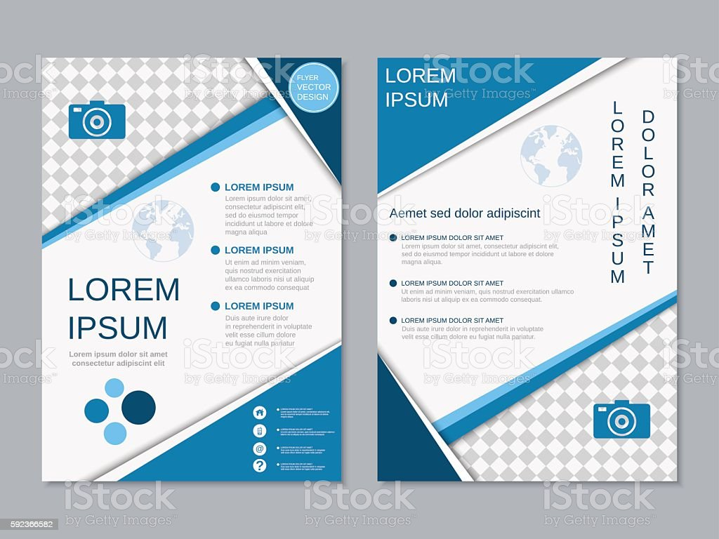 modern twosided professional flyer template stock vector art modern two sided professional flyer template royalty stock vector art