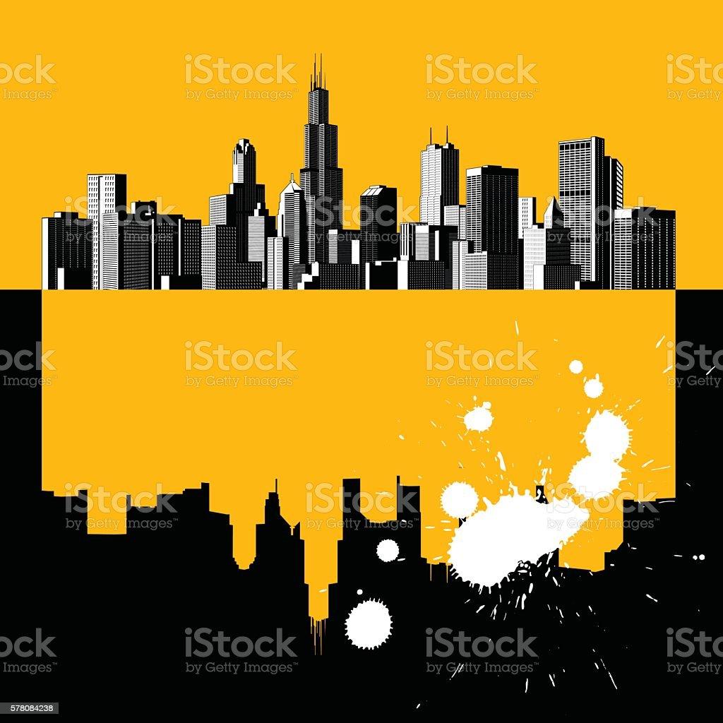 Modern urban life vector art illustration