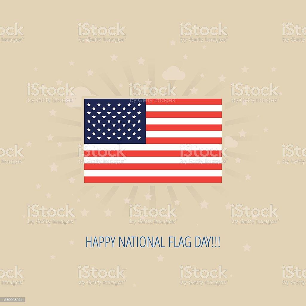 Modern vector American Flag Day design concept vector art illustration
