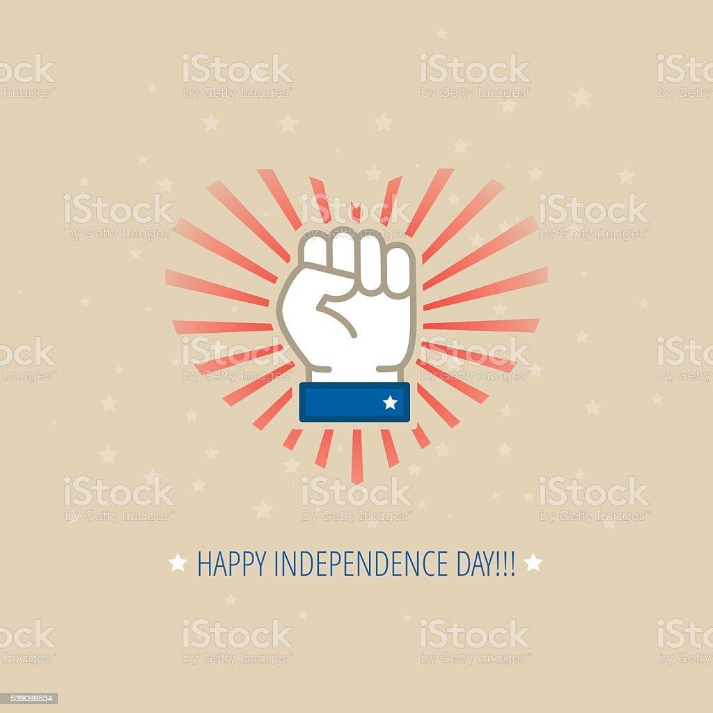 Modern vector American Independence Day design concept vector art illustration