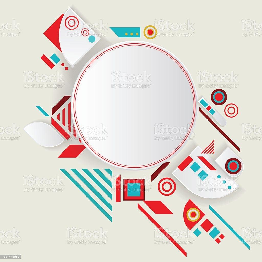 Modern vector aztec frame for material design vector art illustration