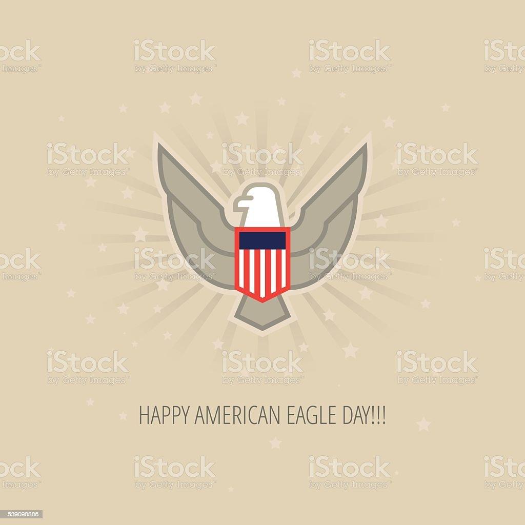 Modern vector Bald Eagle Day design concept vector art illustration