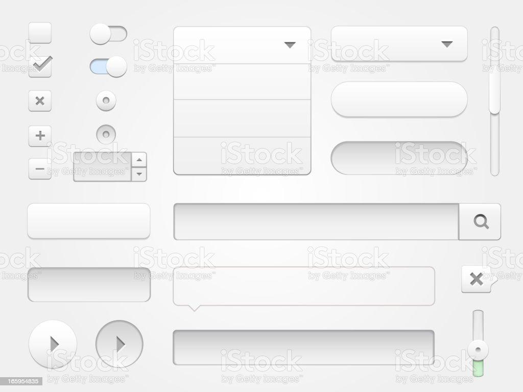 Modern vector collection of multimedia web elements vector art illustration