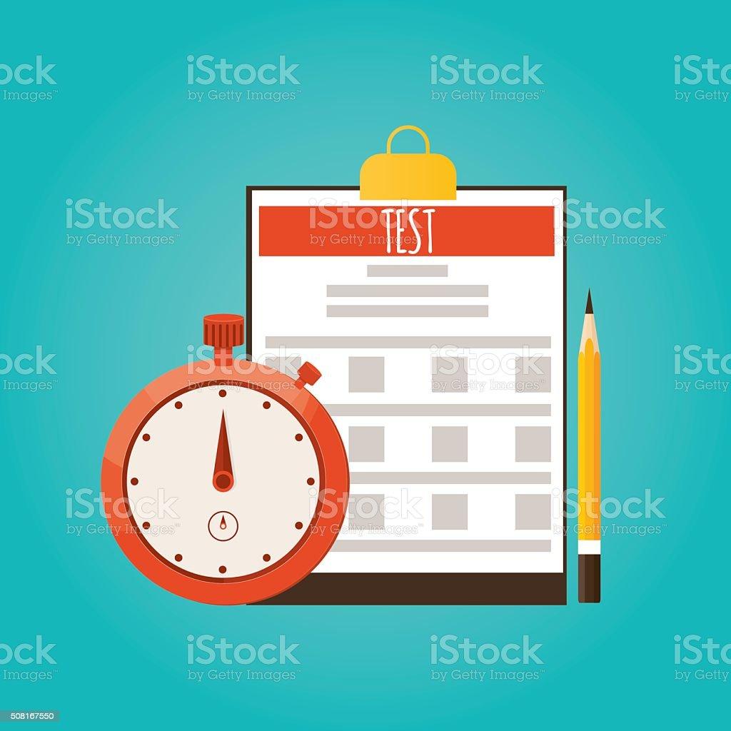 Modern vector illustration of test, Split testing, business competition vector art illustration