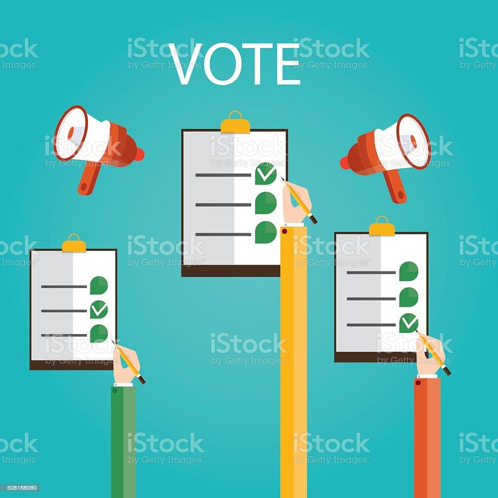 Modern vector illustration of vote, vector art illustration