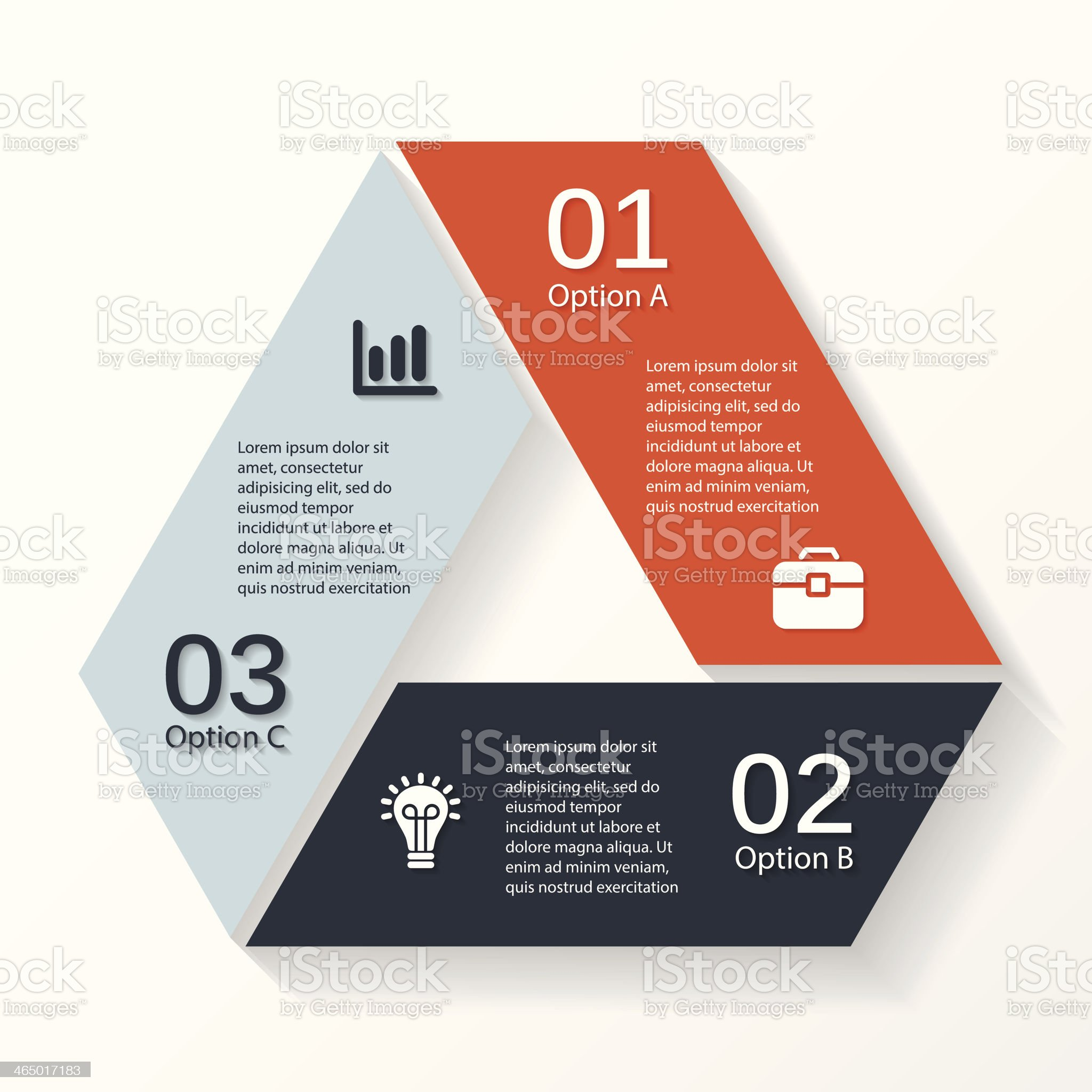 Modern vector info graphic for business project royalty-free stock vector art